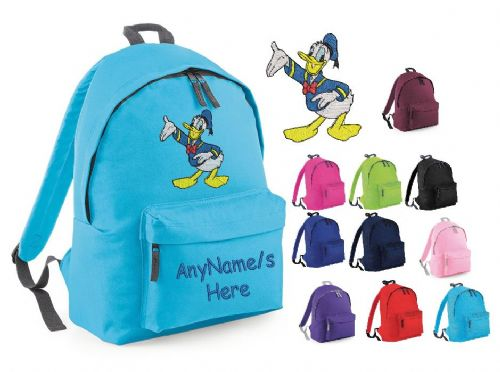 DONALD DUCK Rucksack/Backpack with any name